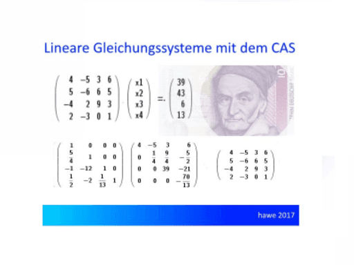CAS 4 lineare Gleichungssysteme – GeoGebra