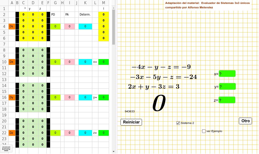 Adaptacion del material: Evaluador de sistemas únicos 3x3 de Alfonso Melendez Presiona Intro para comenzar la actividad