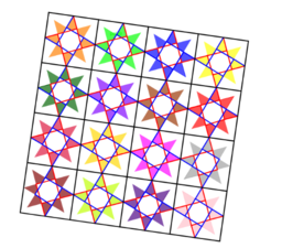 Pythagorean Theorem by Tessellation # 87 Tiling