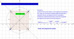 Construcción del cuadrado a partir de su diagonal