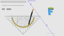 Achsenspiegelung mit dem Geodreieck