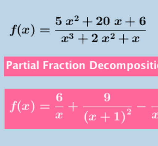 Partial Fraction Decomposition Calculator