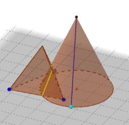 Intersecció d'un con i un tetraedre