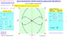 Querschnittsplotter implizite polynomiale Flächen Java