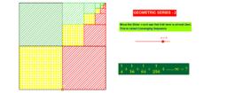 Geometric Series in Quarter Squares