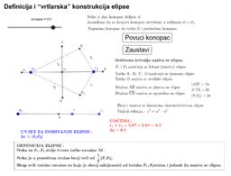 "Definicija i ""vrtlarska"" konstrukcija elipse"