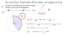 Surface Latérale du cône