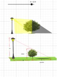 la sombra en función de la altura