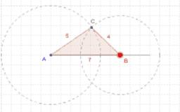 Konstruktion af trekant ud fra sidelængde