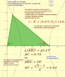 Prova di Matematica Liceo Scientifico(21 giugno 2007). Soluzione del PROBLEMA 1