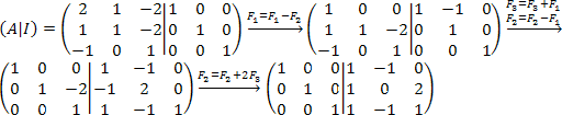 Pasos para crear la matriz inversa