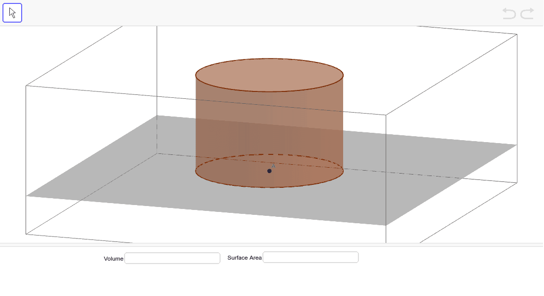 Find the area of the right cylinder. Press Enter to start activity