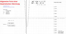 Allgemeinform von quadratischen Gleichungen lösen