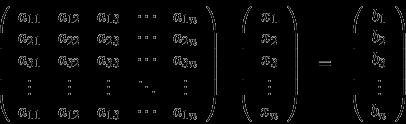 Representación matricial de un Sistema de Ecuaciones Lineales