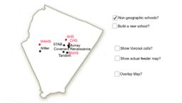 Voronoi diagram of local high schools