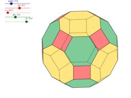 Sześcio-ośmiościan rombowy wielki - wersja kolorowa