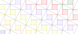 Pythagorean Theorem by Tessellation # 33 Tiling
