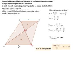 Trapéz - hasonló háromszögek