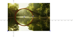 Міст, коло, парабола