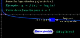 Función logarítmica base 1/6 ( ejercicios )