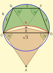 Hipp 2 - rovnoramenný lichoběžník