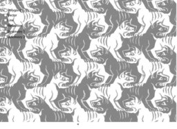 Escher's Dog Tessellation