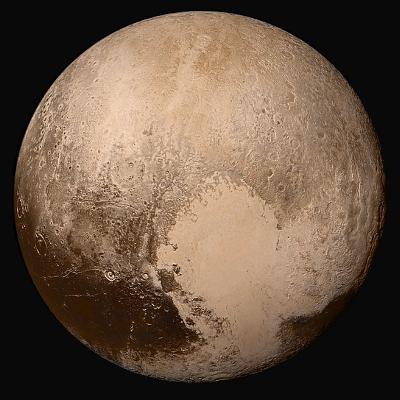 Immagine in alta definizione di Plutone: è ben visibile la regione a forma di cuore scoperta grazie alla missione New Horizons