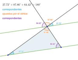 Suma de los ángulos internos de un triángulo