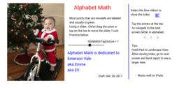 Alphabet Math Introduction