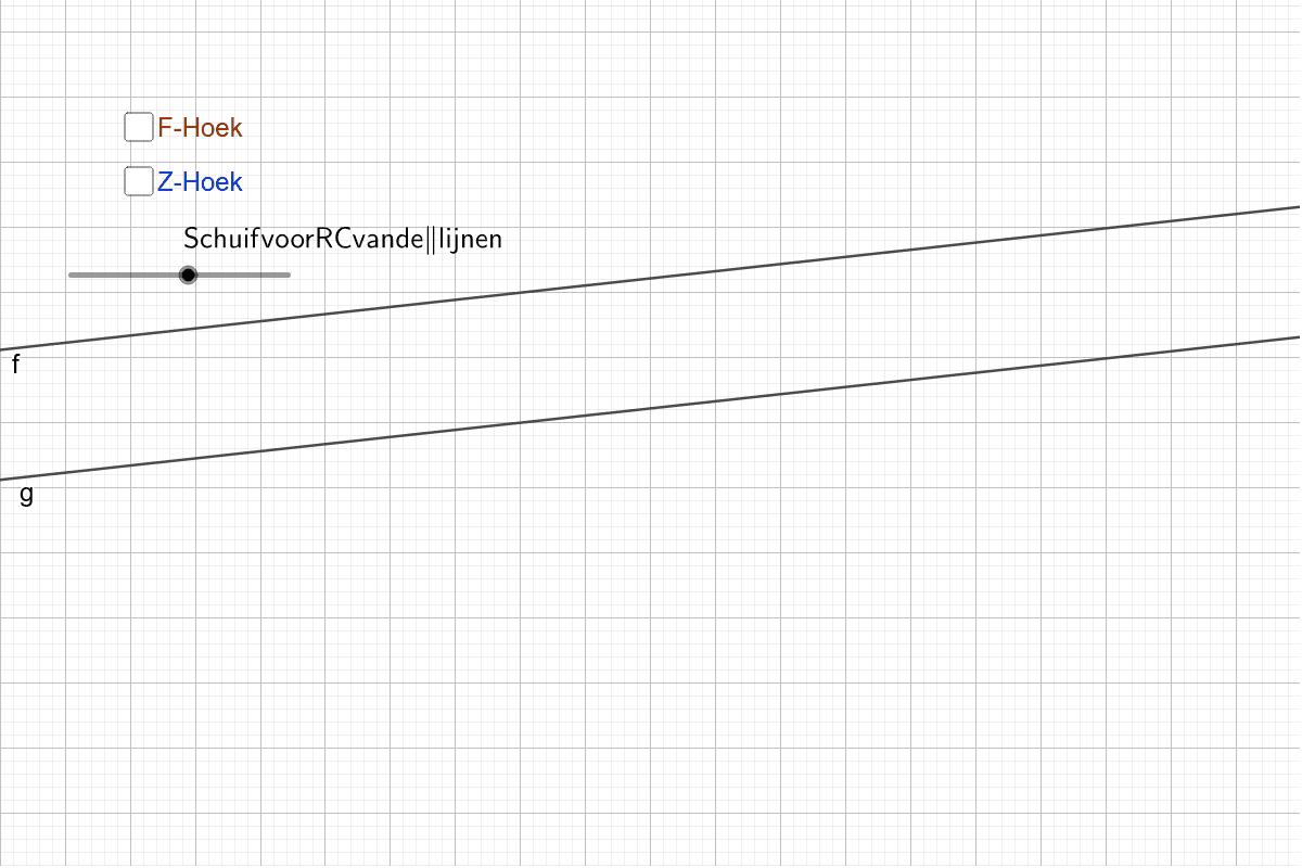 Evenwijdige lijne worden gesneden door een andere lijn Klik op Enter om de activiteit te starten