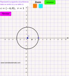 Practica circunferencia Centro y radio