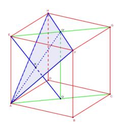 Partage en deux d'un segment à l'intérieur du cube