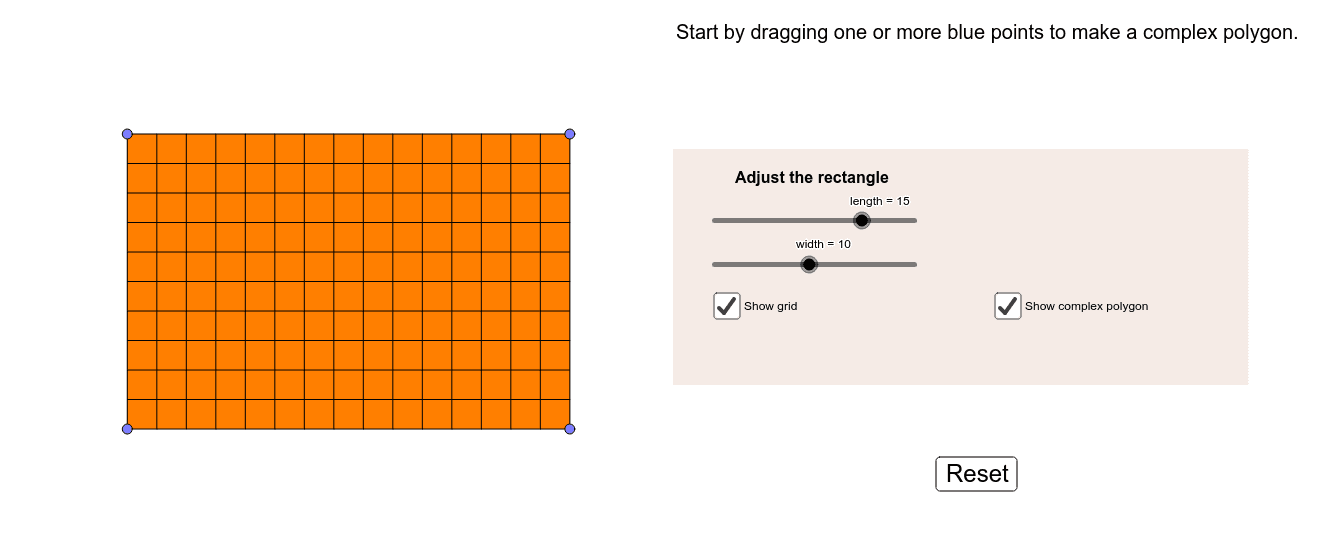 See the connection between the perimeters of a complex polygon and the rectangle in which it is embedded. Press Enter to start activity