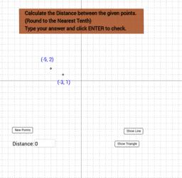 Distance Formula Practice