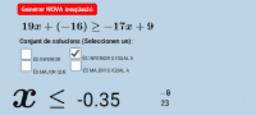 Inequacions de 1r grau II - Mòbil
