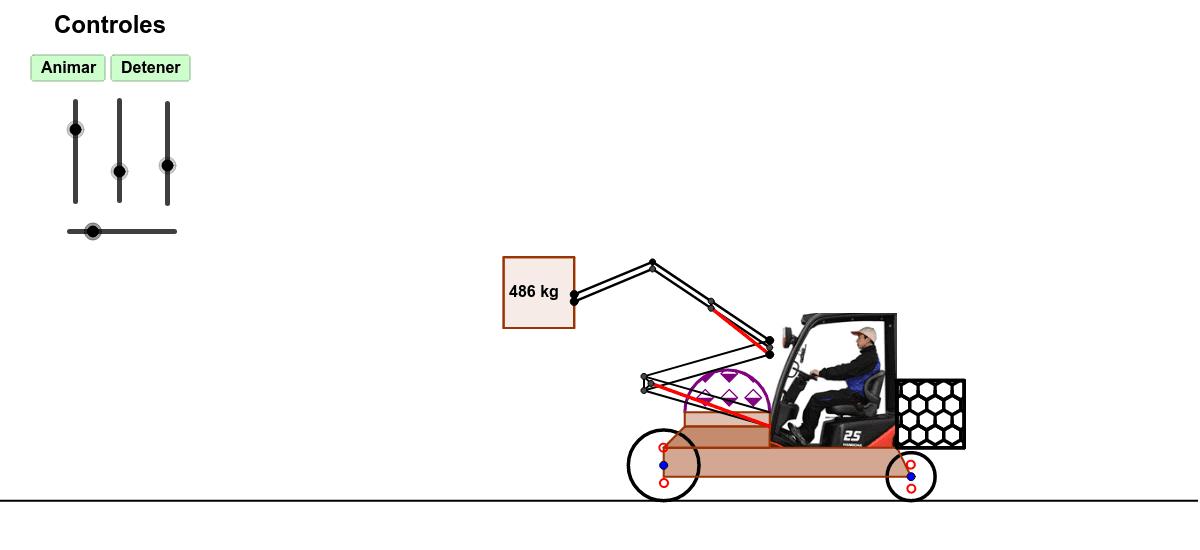 Es una simulación a un montacarga, para utilizarlo tiene que mover las palancas. Presiona Intro para comenzar la actividad