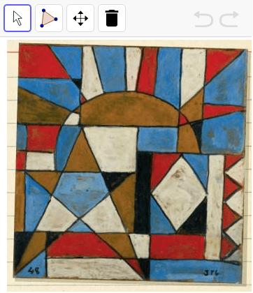 Con la herramienta polígono traza las figuras en la imagen.