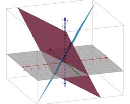 Doorsnede twee vlakken in 3D