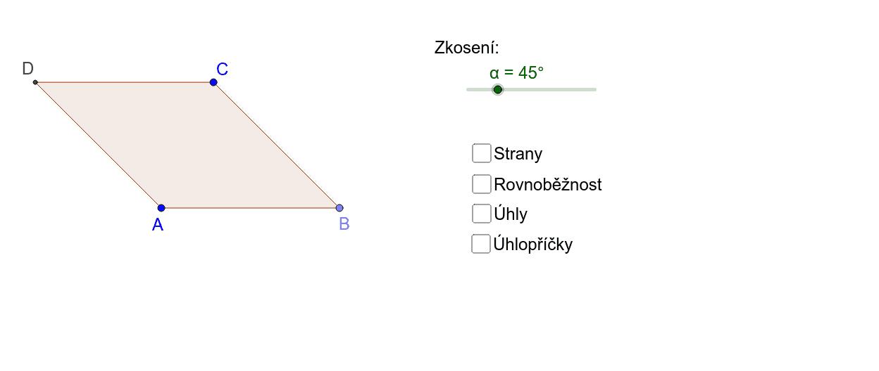 Kosočtverec - vlastnosti Zahajte aktivitu stisknutím klávesy Enter