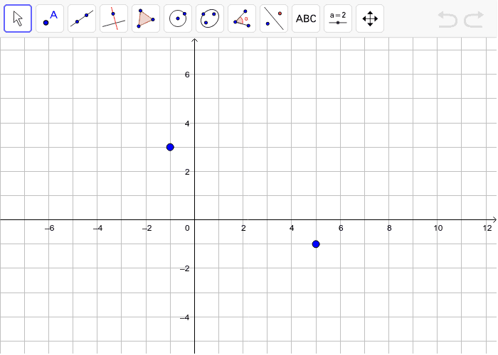 The points (5,-1) and (-1,3) are two vertices of a square. Find the other two vertices. Press Enter to start activity