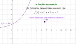 La función exponencial