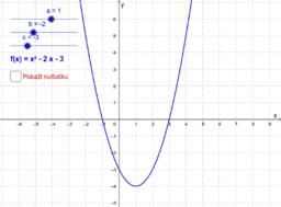 Nultočke kvadratne funkcije