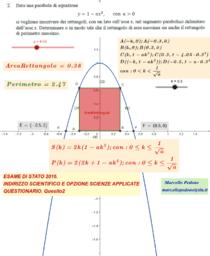 ESAME DI STATO di Matematica 2016. Quesito 2.
