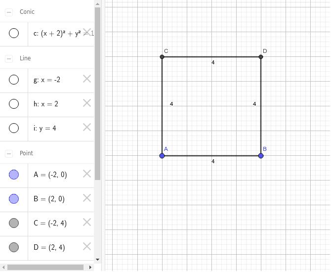 construcción de un cuadrado para el curso: Diseñe y comparta con Geogebra