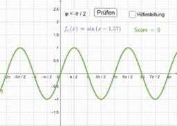 Übung zum Parameter φ