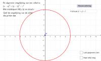 Cirkelvergelijking zelf bepalen