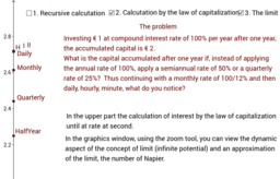 Compound interest, Napier's constant and concept of limit