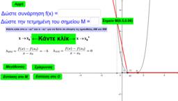 Ορισμός παραγώγου στο x0 (απλός τύπος)