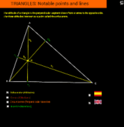 TRIANGLES (Points and segments)