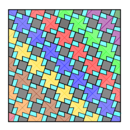 Pythagorean Theorem by Tessellation # 78 Tiling
